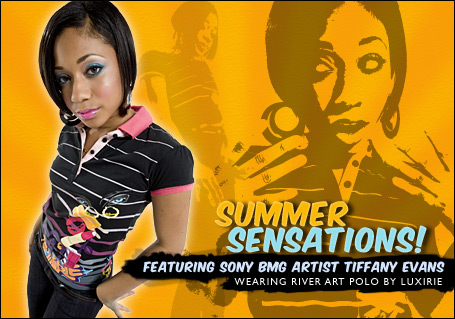 Tiffany Evans Luxirie Summer Sensation Campaign