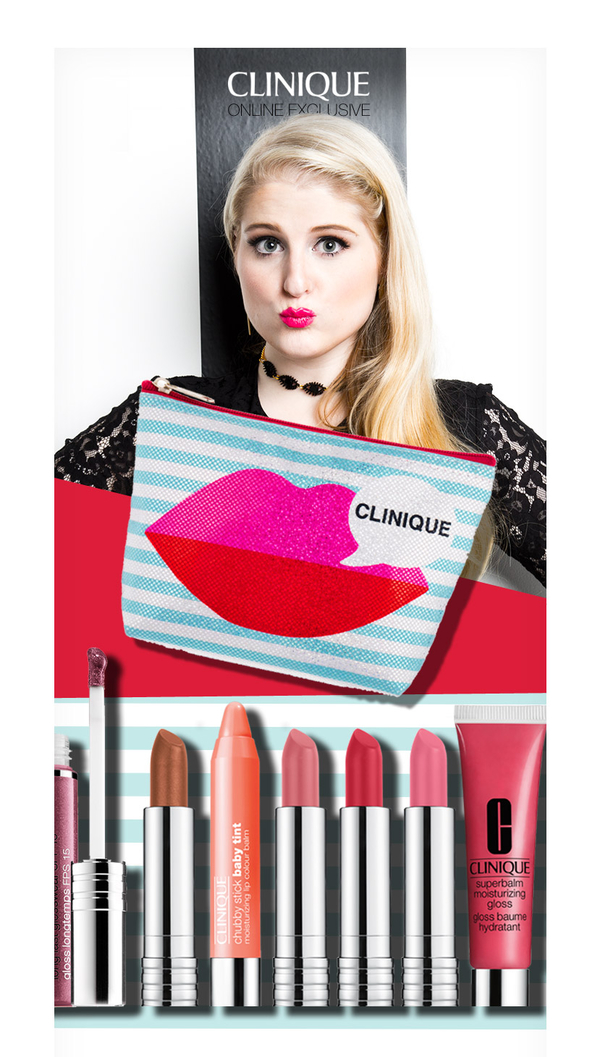 Meghan Trainor Makeup Bag for Clinique | Makeup | Buy Online